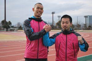 宮崎選手と学長・小野修一郎